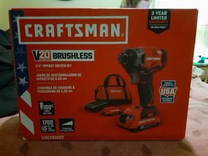 Brand new craftsman 20v impact kit. 2 batteries, charger,bag included for Sale in Nashville, TN