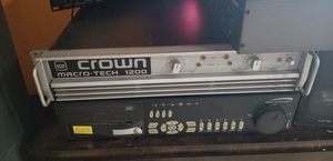 Crown amplifiers 1200 watts for Sale in Fort Lauderdale, FL