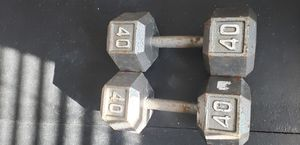 40 Lbs Dumbbells for Sale in Houston, TX