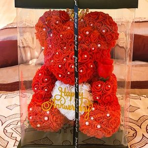 Rose Teddy Bear -Big Flower Bear for anniversaries and February 14 (Like New) for Sale in Miami, FL
