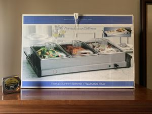 Brand New Triple Buffet Server/Warming Tray for Sale in Ashburn, VA