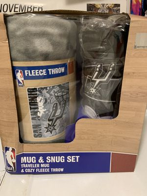 Spurs Fleece Blanket with travel mug set for Sale in San Antonio, TX