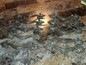 10 Antique brass,Ornate drawer pull handles for Sale in Shepherdsville, KY