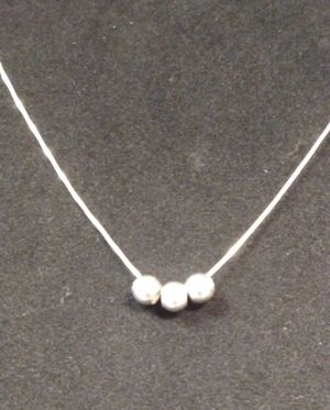 Sterling Silver 3 Ball Necklace for Sale in Hurst, TX