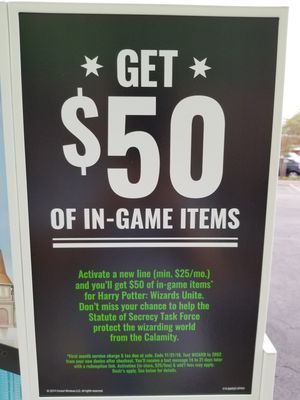 $50 Game Credit with Cricket Wireless New Line Activation for Sale in Fort Walton Beach, FL