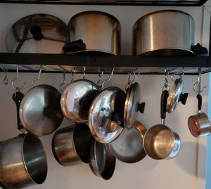 Revere ware pot, pans, lids for Sale in New York, NY