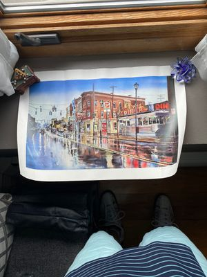 BEAUTIFUL NUMBERED LITHOGRAPH PRINT MAIN STREET DINER ART for Sale in Warwick, RI