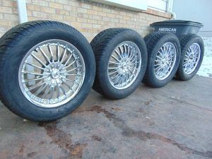 20X9 Chrome Rims & 305 50 20 Federal Couragia SUV Tires *5x5.5 DODGE* for Sale in Aurora, CO