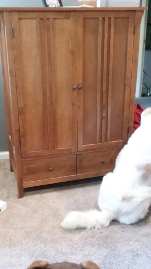Mission style armoire cabinet for Sale in Akron, OH
