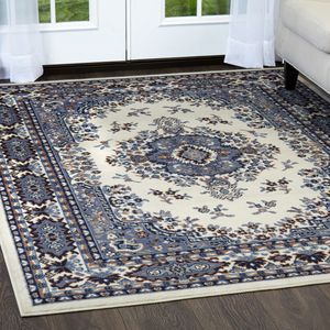 Traditional Blue White Turkish Style Area Rug Rectangular (NEW) for Sale in Santa Monica, CA