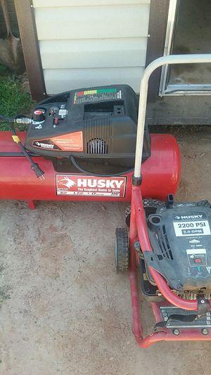 HUSKY air compressor and HUSKY pressure washer for Sale in Granite Falls, NC