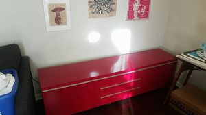 Red organizer/tv stand for Sale in Seattle, WA