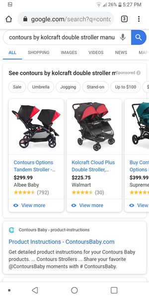 Contour double stroller for Sale in Dearborn, MI