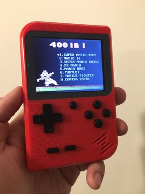 New in box $25 each 400 games in 1 handheld retro classic game boy style console with rechargeable battery 8 bit Classic nintendo games red or blue for Sale in Santa Fe Springs, CA