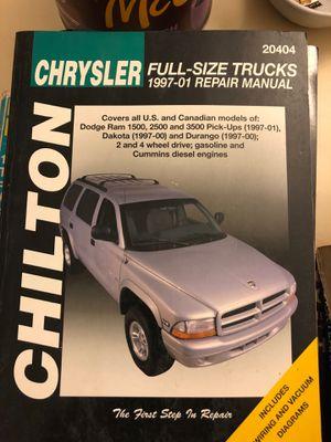 Chillton Chrysler Full-size Truck 1997-01 repair manual for Sale in Covington, WA