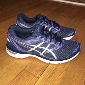 Asics Gel-Excite 4 (T6E9N) Running Shoe - Women's Size 7.5 D - Blue Gently used for Sale in Rock Cave, WV