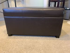 Faux Leather Ottoman with Storage for Sale in Irvine, CA