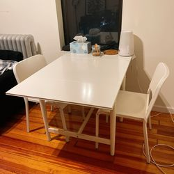 IKEA Expandable Dining Table With 2 Chairs for Sale in Queens,  NY
