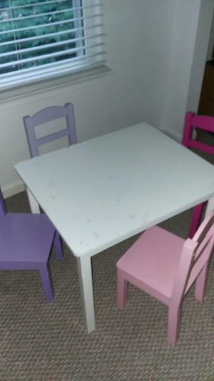 Kids wooden table and chair for Sale in Germantown, MD