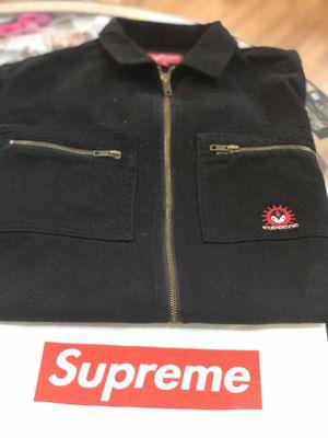 Brand new Black Supreme Vampire Denim zip up jacket size small for Sale in Kensington, MD