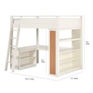 Pottery Barn sleep + study loft bed for Sale in Cornelius, NC