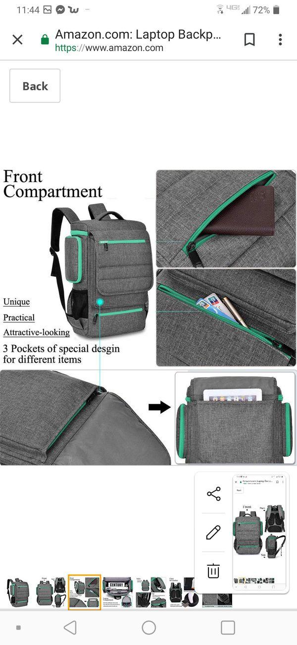Laptop Backpack 17.3 Inch,BRINCH Water ResistanCollege Shoulder Backpack Fits 17-17.3 Inch Laptop Notebook Computer