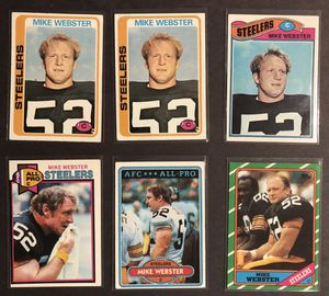 HOF-ALL PRO Mike Webster, including ROOKIES Pittsburgh Steelers 1970s Card Lot! for Sale in Harmony, PA