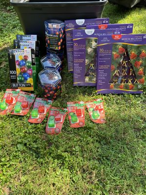 Christmas - Lights - all new never used - time to decorate soon!! for Sale in Virginia Beach, VA