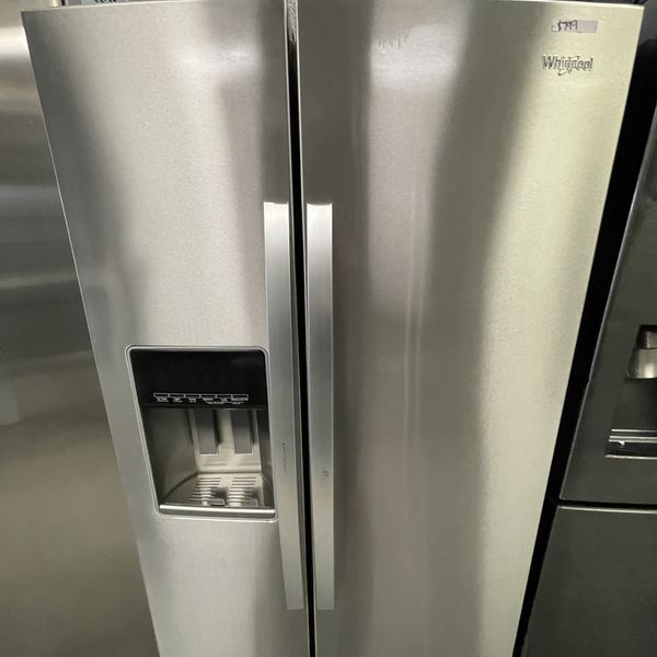 Stainless Steel Whirlpool Side By Side Fridge For Only $800