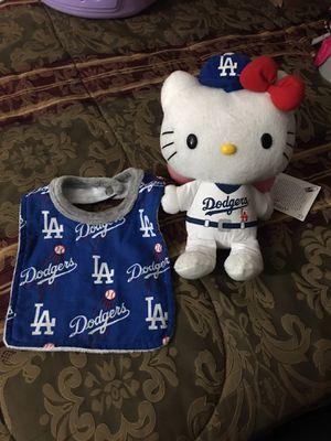 Hello kitty Dodger plush n bib New for Sale in Baldwin Park, CA