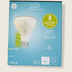 BRAND NEW! G&E LED+ Battery Backup Bulb 65W BR30 for Sale in Gastonia,  NC