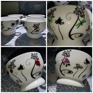 4 ceramic tea/coffee cups for Sale in Ontario, CA
