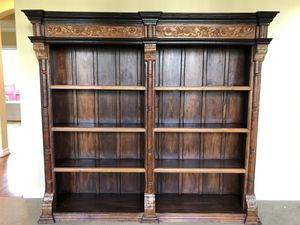 "Beautiful & unique hand crafted in India sold wood book shelving unit. 6'8"" tall x 7'4"" wide for Sale in Issaquah, WA"