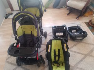 BabyTrend Sit n'Stand double stroller travel system for Sale in Riverside, CA