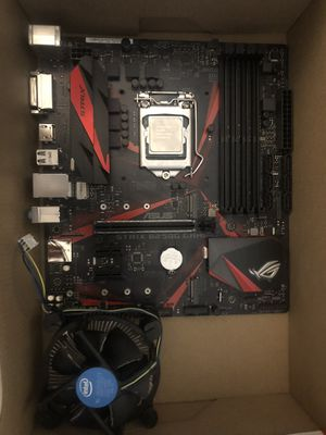 COMBO : INTEL CORE i3 1600 3.7GHZ (with fan) and ASUS STRIX b250 gaming motherboard for Sale in South Riding, VA