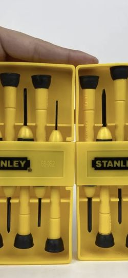 2-Stanley Tools 6 Piece Precision Screwdriver Set, Black/Yellow 66-052 Free Ship for Sale in Peoria,  IL
