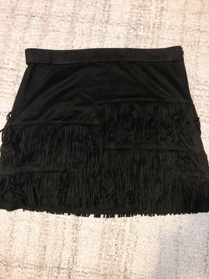 Zara suede fringe skirt. Size L for Sale in Auburn, WA