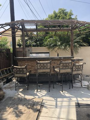 BBQ Island with Palapa and grill and Keg pump. BBQ dimension 4x11 Palapa dimension 10x20 for Sale in Downey, CA