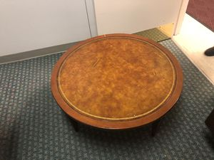 Leather top table for Sale in Portland, OR