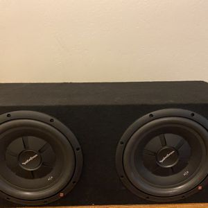 """2) Rockford Fosgate R2SD4-12 12"""" 1000W Car Shallow Mount Slim Subwoofers 🔊 Subs In A Box for Sale in Bakersfield, CA"""