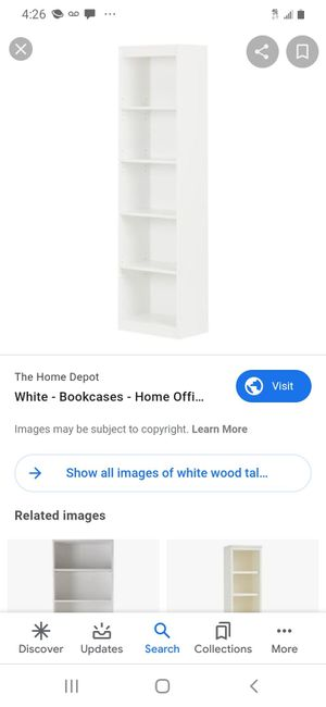 White bookcase for Sale in Albuquerque, NM