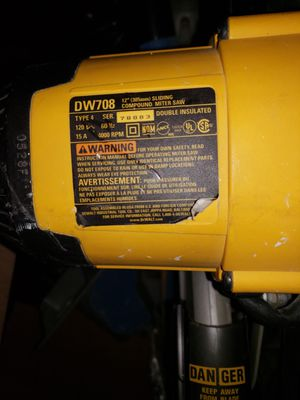 Dewalt 12in Miter saw for Sale in New York, NY