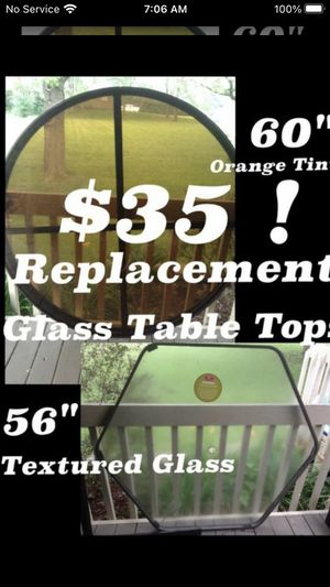 Brand New Outdoor Replacement Glass Table Tops ONLY $30 Cheap! for Sale in Oak Forest, IL