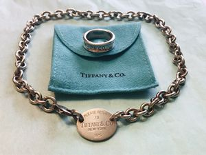 Authentic Tiffany and Co chocker necklace and ring for Sale in Fairfax, VA