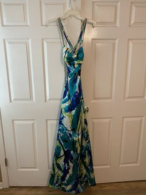 Blue and lime green prom dress for Sale in Lakehurst, NJ