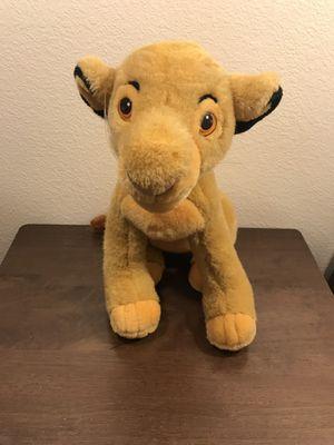 "Vintage Disney The Lion King Simba Plush 13"" Sitting Stuffed Animal Toy for Sale in Murray, UT"
