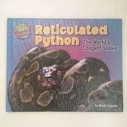 Reticulated Python Facts Book By Meish Goldish for Sale in Foster City,  CA
