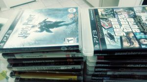 Ps3 $150 2 controllers console16 games for Sale in Plano, TX