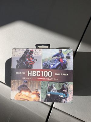 Boomless hbc wireless helmet communication Bluetooth for Sale in Colorado Springs, CO