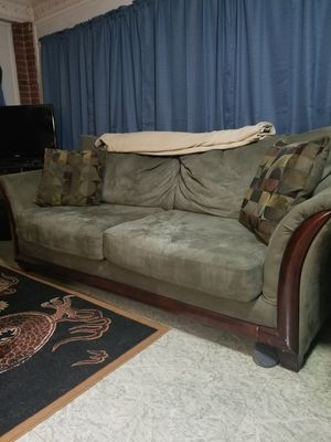 Microfiber couch in good condition for Sale in Roanoke, VA